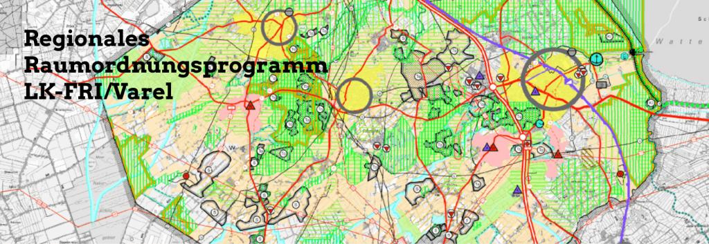 regionale Raumordnung Varel Karte